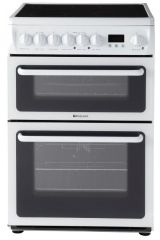 Hotpoint 60cm Wide Double Oven Cooker HAE60Ps (White)